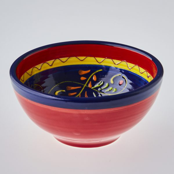 Buy Single portion salad bowl hand painted in Spain