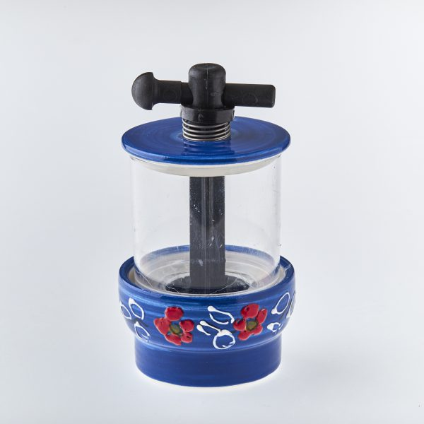 Salt and peppercorn hand painted grinder UK