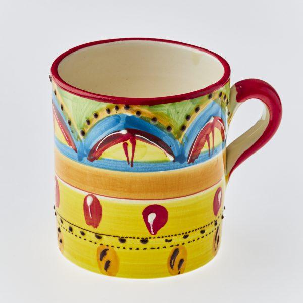 Mug Spanish pottery handmade and hand painted UK