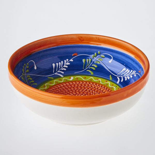 Spanish garlic grater ceramic salad bowl