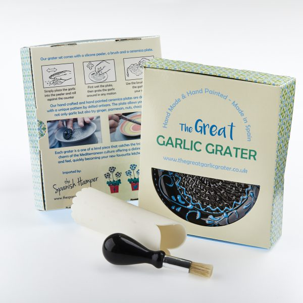 hand made and hand painted garlic grater UK